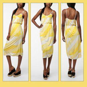 UO Cooperative Yellow Midi Dress